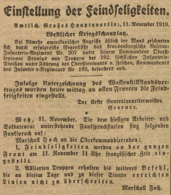 Vorwärts, 12. November 1918