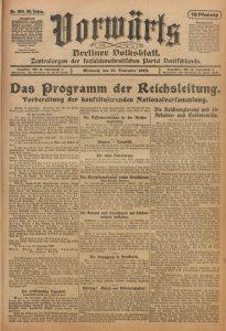Vorwärts, 13. November 1918