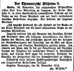 Die Rote Fahne, 30. November 1918